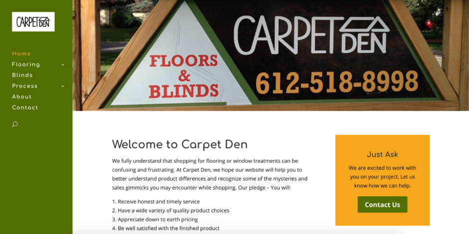carpet den inc website