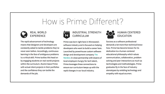 what makes Prime Digital Academy different than other schools