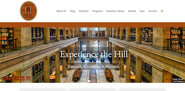 James J. Hill Center homepage