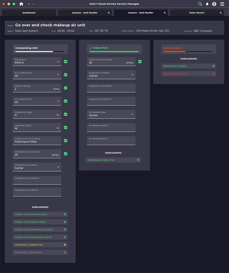 visual service desktop app system checklist